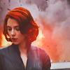 midnightjuly: natasha romanoff, looking chill as fuck as things explode in the background (stormborn)