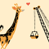 deetailed: A giraffe is entranced by the sight of a building crane. (mechaphile?)