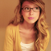 ree: photo of a woman with long blonde hair and glasses (okay)