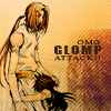japanimecrazed: Goku and Konzen, OMG glomp attack. (glomp)