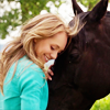 anoyo: Made for me! Amy leaning against Spartan and smiling. (heartland amy and spartan)