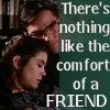 doranwen: Lois & Clark with text There's nothing like the comfort of a friend (Comfort)