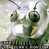 """darchildre: a cybermat!  text:  """"grar!  i'm a scary monster!"""" (grar!  I'm a scary monster!)"""