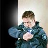 skieswideopen: Cameron Mitchell aiming a gun (SG: Mitchell)