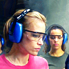 skieswideopen: Annie Walker with ear protection at the gun range (Covert Affairs: Annie at the range)