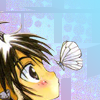 kikos_ai: picture of Cooro from +anima with a butterfly (butterfly)