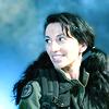 skieswideopen: Vala Mal Doran against a blue background (SG: Vala on blue)
