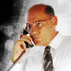 skieswideopen: Walter Skinner on the phone (X-Files: Skinner)