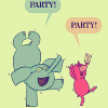 midvalley: (ELEPHANT&PIGGIE | party! party!)