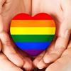 auroracloud: hands holding a rainbow heart (rainbow heart)
