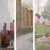 aurumcalendula: details from Ora Coltman's triptych mural 'Dominance of the City' (city triptych)