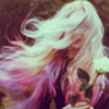 glassbonfires: Woman holding Flowers in Wind (Soft Wind Hair)