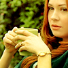 auroracloud: Amy Pond with a tea mug (Amy with tea)