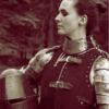 borealgrove: A knight stands proudly with her helmet in-hand. (The Archivist's Champion)