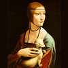 "ext_15210: icon created using Leonardo da Vinci portrait of ""Lady with ermelline"" (dama)"