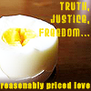 glinda: truth, justice, freedom and reasonably priced love (terry pratchett knows all) (ideals/eggs)