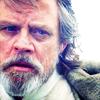 petra: Old Luke Skywalker glaring (Luke Skywalker - No)