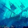 muccamukk: The underwater wreck of a sunken tall ship. (Misc: Wrecked)