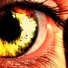 onebluemountain: A close up on a golden eye (Default)