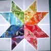 jadesfire: Quilt with patchwork star pattern (Star Quilt)