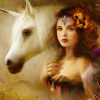 "gemspegasus: Art by Bente Schlick (Art ""Celtic Faerie Unicorn"")"