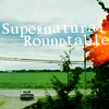 spnroundtable: image: impala driving away, text: Supernatural Roundtable (on a clear day i can see forever)