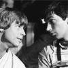 teshumai: luke skywalker and wedge antilles in black and white (luke/wedge)