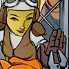 aberration: Hera from Star Wars Rebels high-fiving Chopper (high five!)
