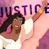 """lokifan: Esmerelda with text """"justice!"""" (Esmerelda: justice)"""