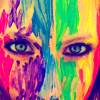 lokifan: Woman with rainbow warpaint (Rainbow warrior)