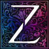 "zingerella: Capital letter ""Z"" decorated with twining blue and purple vegetation (That letter)"