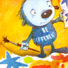 """tinny: Something Else holding up its colorful drawing - """"be different"""" (Default)"""