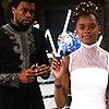 such_heights: shuri explaining something to t'challa in black panther (mcu: shuri & t'challa)