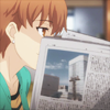 spindizzy: Taiga staring over her newspaper (*reads suspiciously*)