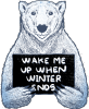 syntonic_comma: Wake Me Up When Winter Ends woot! T-shirt (by Tobe Fonseca) (seasonal)