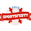 """sportsfest_mods: baseball with red ribbon reading """"sportsfest!!"""" (official official)"""