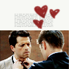 thefrozenheart: dean and castiel - lovely (spn -> destiel - love hearts)