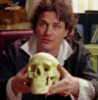 fengirl88: Geoffrey Tennant from Slings & Arrows holding Oliver's skull (Geoffrey)