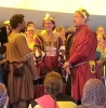 syntonic_comma: Their Majesties Timothy & Gabrielle II, King and Queen of Æthelmearc, bestowing an Award of Arms on Lord Cedric of Atlantia at the Pennsic Choirs Concert, Pennsic XLIV, Anno Societatis L (photo by Lady Erlan Nordenskaldr) (pennsic)