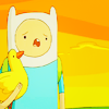 quietspring: Image: Finn from Adventure Time whines, while holding a duck in one arm. (at by mindfang)