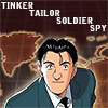 gramarye1971: Taichi Keaton, with the text 'Tinker Tailor Soldier Spy' (Master Keaton: Tinker Tailor)