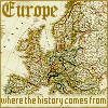 """gramarye1971: Antique map of Europe with 'Europe: Where the History Comes From"""" text superimposed (European History)"""