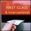 gramarye1971: hand posting a letter in a First Class and International pillar box slot (Correspondence)