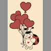 fred_mouse: line drawing of a ladybug with love-heart shaped balloons (ladybug)