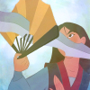 fictional_fans: Disney's Mulan using a paper fan to defend against a sword (fa mulan)