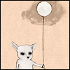 saraannette: It's a chihuahua-thing with a balloon. (Default)