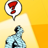 sheliak: Colossus from the X-Men, with a great big question mark his speech bubble. (colossus: ?)