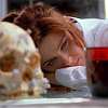 makelove: Brennan from Bones waking up next to a skull and coffee ([ Brennan | Fell asleep in bad place ])