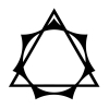 dreamwidth_therians: A symbol that combines both the theta-delta and elven star to represent Therians and Otherkin. Created in 2018 by Nokken. (Otherkin, Greater Otherkin Symbol, Nokken, Therian)