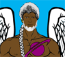 iainpj: winged hero with braid (winged hero with braid)